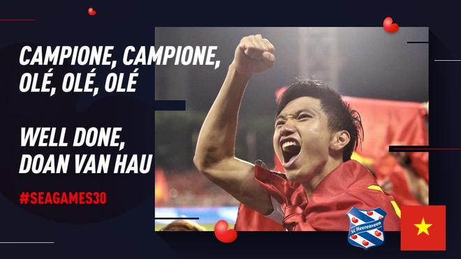 Đội bóng Hà Lan gửi điện mừng Văn Hậu, nhận lại mưa thả tim và hàng ngàn lời cảm ơn của CĐV Việt Nam - Ảnh 1.