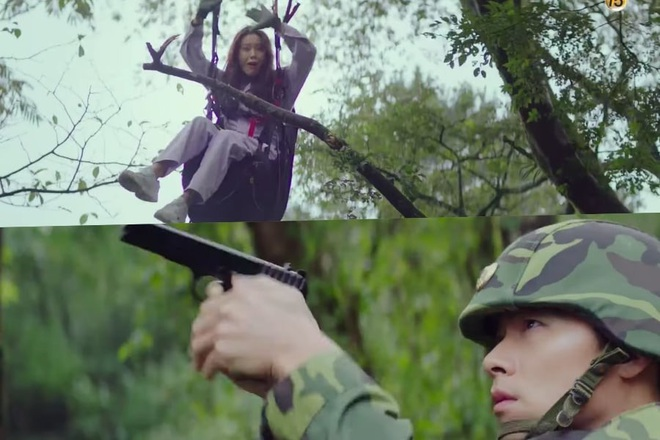 Chị đẹp Son Ye Jin hấp tấp dẫm phải mìn làm Hyun Bin đứng tim ở preview Crash Landing On You - Ảnh 2.