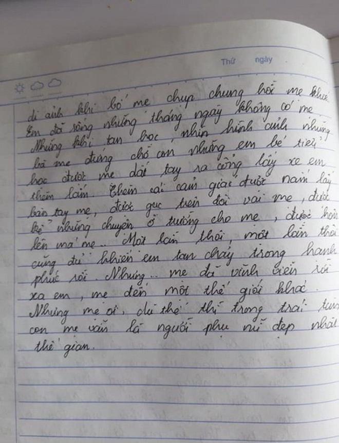 Bài văn tả mẹ đã khuất đầy xúc động của nam sinh lớp 7: Mẹ mất lúc 1.5 tháng tuổi, chỉ có thể gặp qua giấc mơ, lời kể của bố, và di ảnh - ảnh 2