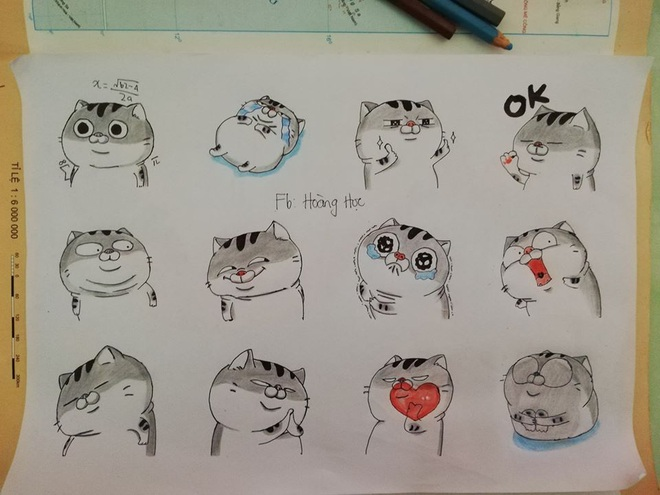 Quá rảnh rỗi trong giờ học, nam sinh vẽ tay loạt biểu tượng cảm xúc của Facebook trông còn chất hơn cả bản gốc - ảnh 3