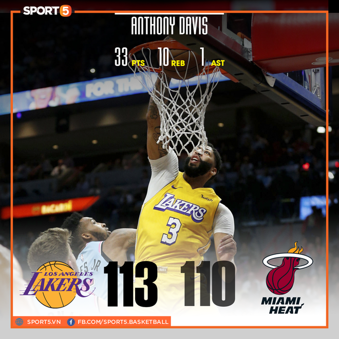 NBA 19-20: Bùng nổ ở hiệp 3, Los Angeles Lakers khiến Miami Heat nhận trận thua đầu tiên ở sân nhà trong mùa giải năm nay - ảnh 1