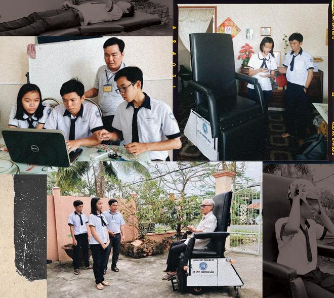 Hành trình kỳ diệu của 2  học sinh đam mê lập trình tạo nên chiếc xe lăn tiện ích cho người già và người khuyết tật - Ảnh 1.