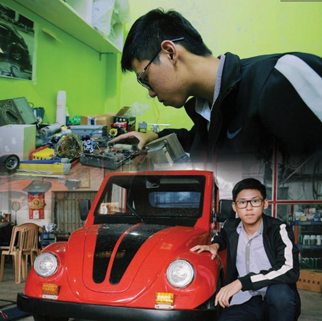 Học sinh lớp 12 ở Nam Định chế tạo xe ô tô điện chạy bằng năng lượng mặt trời, chở được 12 người - Ảnh 1.