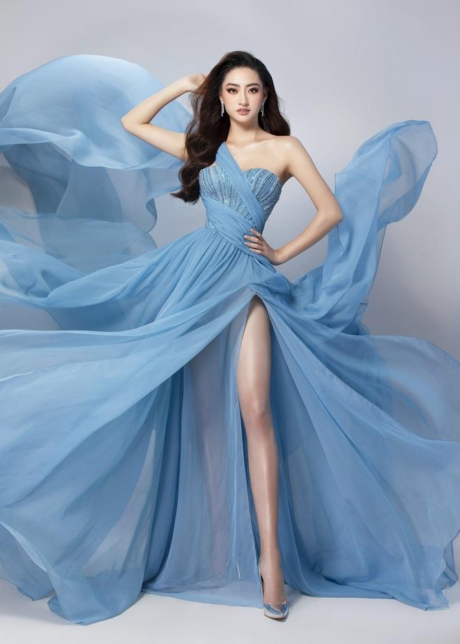 Diện đầm xẻ cao bồng bềnh khoe đôi chân 1m22, Lương Thùy Linh sẽ ẵm giải Top Model? - ảnh 2