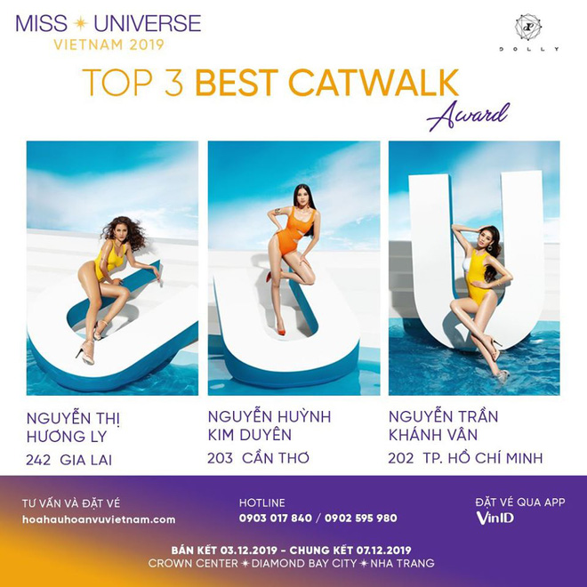 Lộ diện top 3 thí sinh catwalk đỉnh cao nhất Hoa hậu Hoàn vũ 2019, quán quân Vietnam's Next Top Model cũng có mặt? - ảnh 1