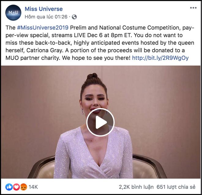 Miss Universe 2019 bị khán giả quốc tế kịch liệt phản ứng vì thu phí người xem trực tuyến - ảnh 1