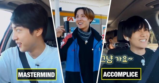 Hóa ra thủ phạm vụ bỏ rơi j-hope ở trạm xăng của BTS chính là... anh cả Jin! - ảnh 3