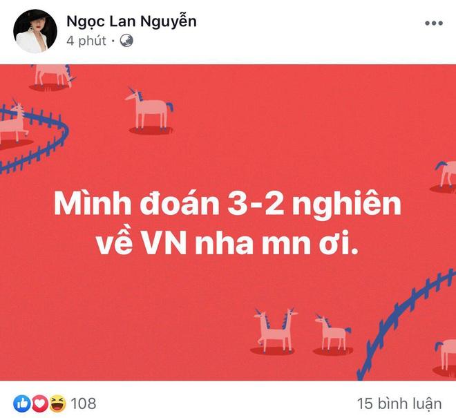 Ngọc Lan, Ngô Kiến Huy và loạt sao Vbiz dành lời động viên U22 Việt nam trước bàn thua trong hiệp 1, vỡ oà trước chiến thắng gỡ hoà với Thái Lan - Ảnh 2.