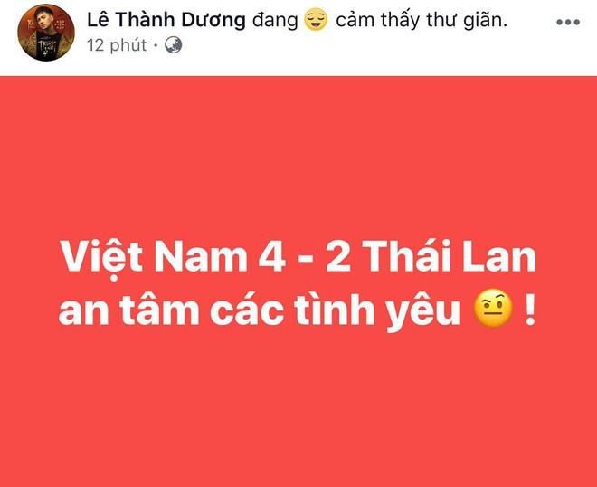 Ngọc Lan, Ngô Kiến Huy và loạt sao Vbiz dành lời động viên U22 Việt nam trước bàn thua trong hiệp 1, vỡ oà trước chiến thắng gỡ hoà với Thái Lan - Ảnh 1.
