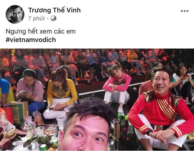 Ngọc Lan, Ngô Kiến Huy và loạt sao Vbiz dành lời động viên U22 Việt nam trước bàn thua trong hiệp 1, vỡ oà trước chiến thắng gỡ hoà với Thái Lan - Ảnh 6.
