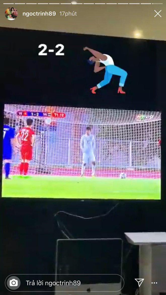 Ngọc Lan, Ngô Kiến Huy và loạt sao Vbiz dành lời động viên U22 Việt nam trước bàn thua trong hiệp 1, vỡ oà trước chiến thắng gỡ hoà với Thái Lan - Ảnh 7.
