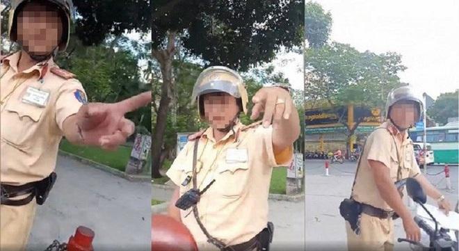 Làm rõ cảnh sát giao thông TP.HCM chửi tục khi bị tài xế phản ứng - ảnh 1