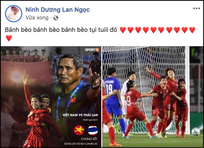 Đặng Thu Thảo, Chi Pu cùng dàn sao Vbiz vỡ oà hạnh phúc khi tuyển nữ Việt Nam giành HCV SEA Games 30 - Ảnh 12.