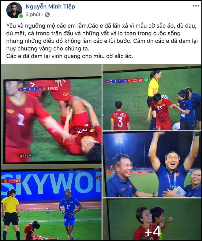 Đặng Thu Thảo, Chi Pu cùng dàn sao Vbiz vỡ oà hạnh phúc khi tuyển nữ Việt Nam giành HCV SEA Games 30 - Ảnh 11.