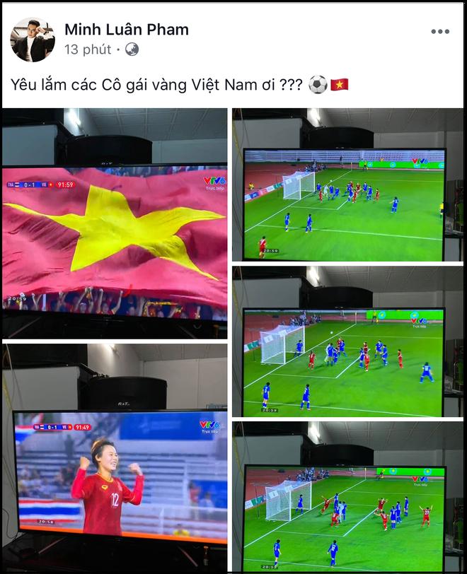 Đặng Thu Thảo, Chi Pu cùng dàn sao Vbiz vỡ oà hạnh phúc khi tuyển nữ Việt Nam giành HCV SEA Games 30 - Ảnh 5.