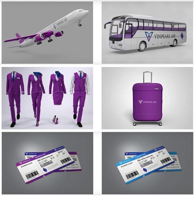 Dân mạng lan truyền bộ nhận diện thương hiệu tím lịm tìm sim, nghi là màu chủ đạo của Hãng hàng không Vinpearl Air - ảnh 1