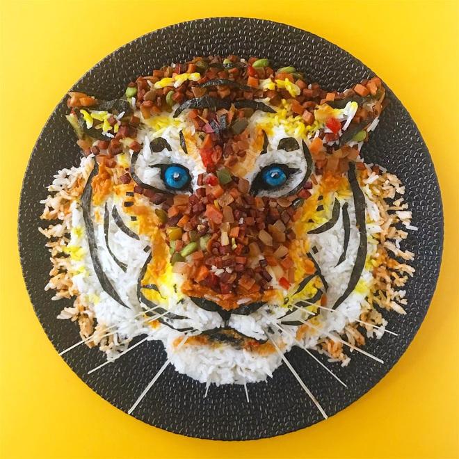 Cô gái tạo ra cả một sở thú bằng đồ ăn, ai nhìn vào cùng thòm thèm nhưng không nỡ động tay vì quá đẹp - ảnh 8