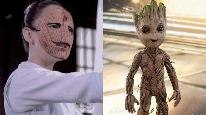 Vừa lên sóng, Độc Cô Hoàng Hậu Trần Kiều Ân bị so sánh với bạn cây Groot ở Vệ Binh Dải Ngân Hà! - Ảnh 3.