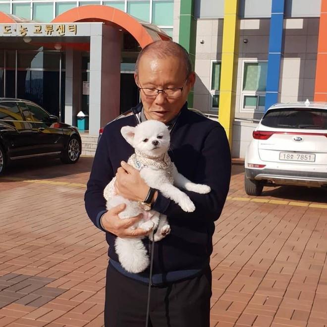 HLV Park Hang-seo về thăm bạn cũ, hào phóng ký một thùng bóng tặng người hâm mộ - Ảnh 3.