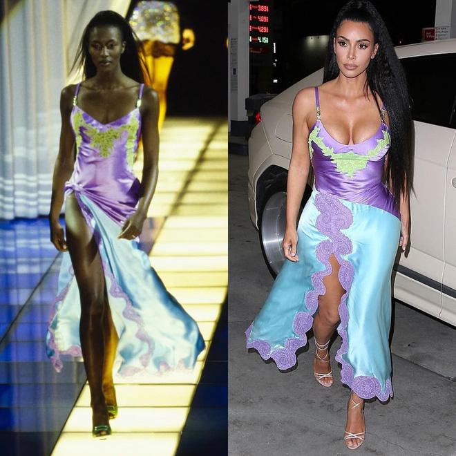 Kim Kardashian liên tiếp copy lại phong cách của Naomi Campbell nhưng lại đem đến ấn tượng hoàn toàn khác - Ảnh 1.
