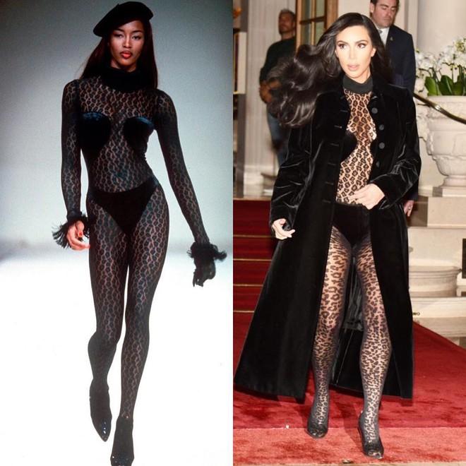 Kim Kardashian liên tiếp copy lại phong cách của Naomi Campbell nhưng lại đem đến ấn tượng hoàn toàn khác - Ảnh 2.