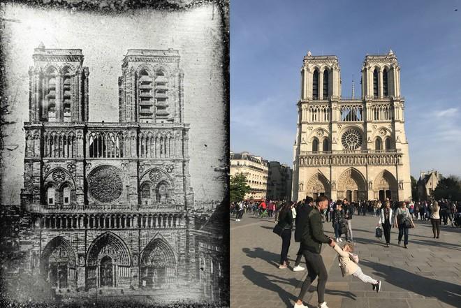 Cư dân mạng truy tìm 'hai cha con' chụp ảnh trước Nhà thờ Đức Bà Paris ngay trước vụ cháy - ảnh 3