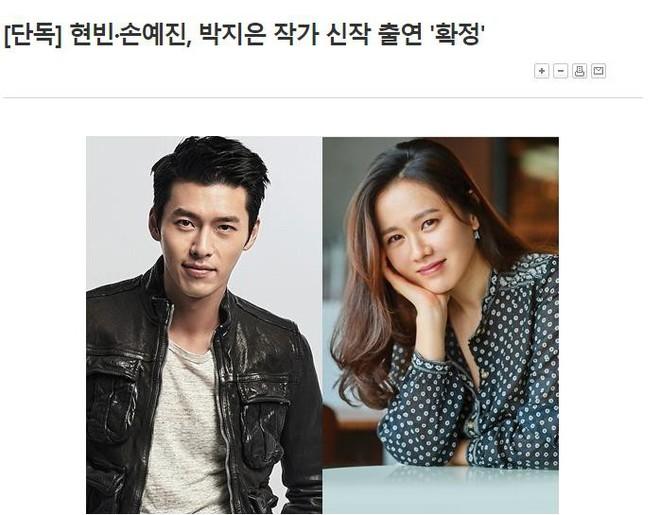 Không xác nhận hẹn hò, Hyun Bin và chị đẹp Son Ye Jin lại ghẹo fan khi công bố cặp kè phim mới - ảnh 1