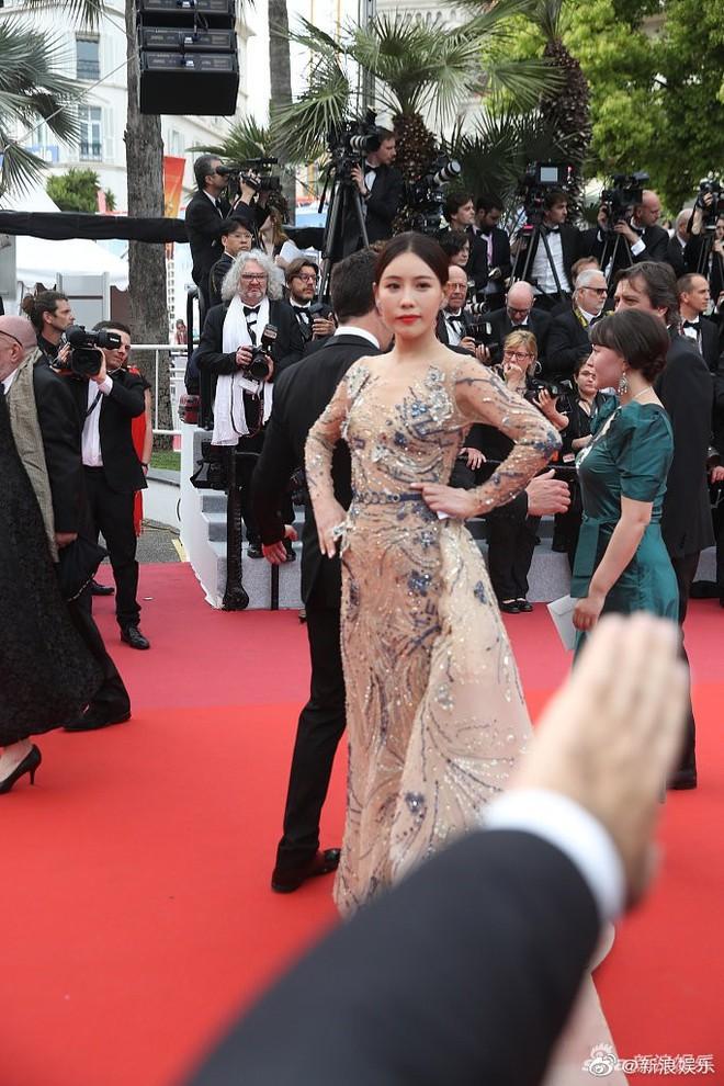 Bức ảnh dậy sóng toàn Weibo: Phóng viên quốc tế giơ tay xua đuổi mỹ nhân Diên Hi Công Lược tại thảm đỏ Cannes - Ảnh 2.
