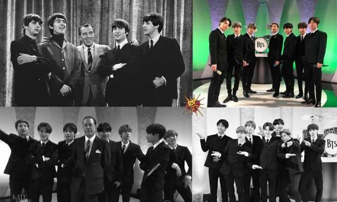 Hóa thân The Beatles trên talkshow nổi tiếng nước Mỹ, BTS còn là boygroup đầu tiên làm được điều này sau... 55 năm! - ảnh 5