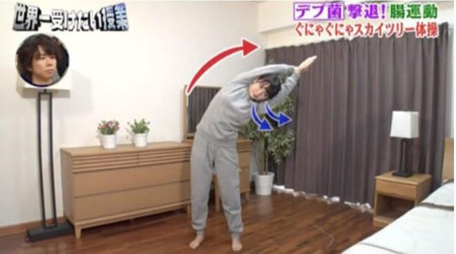 Bài tập 5 phút mỗi ngày giúp khắc phục chứng đầy hơi, táo bón, thừa cân của con gái Nhật - ảnh 6