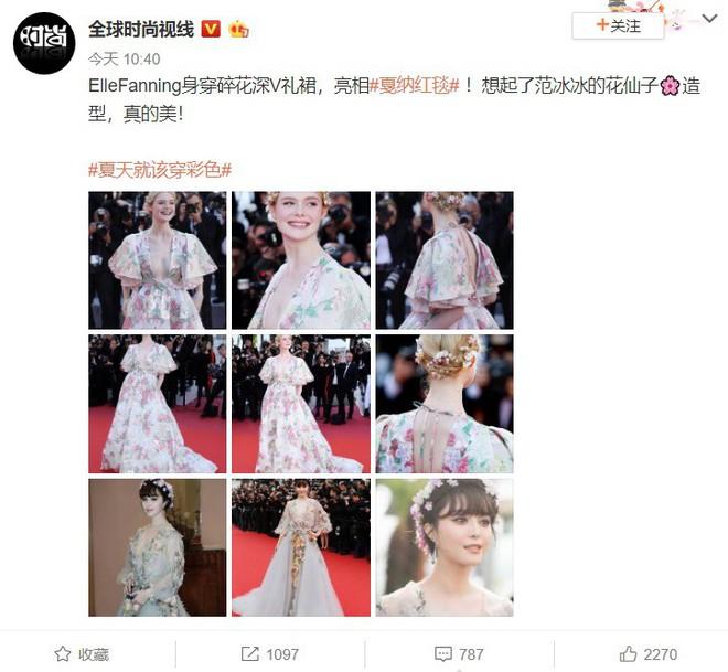 """Elle Fanning thành tiên nữ đẹp hơn hoa tại Cannes, nhưng netizen xứ Trung lại chỉ nhớ đến """"hoa tiên tử"""" Phạm Băng Băng ngày nào - ảnh 2"""