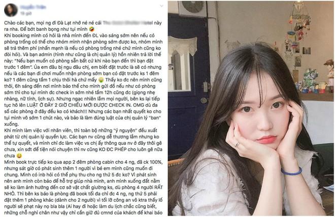 """Lên mạng chê bai vì không được nhận phòng sớm khi du lịch Đà Lạt, cô gái trẻ bị """"phản đòn"""" khi nhận về cả rừng chỉ trích từ cư dân mạng  - Ảnh 1."""