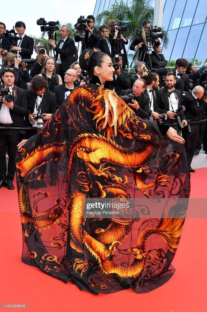 Không có Lý Nhã Kỳ thì đã có Trương Thị May mang áo dài Việt lên thảm đỏ LHP Cannes - ảnh 3