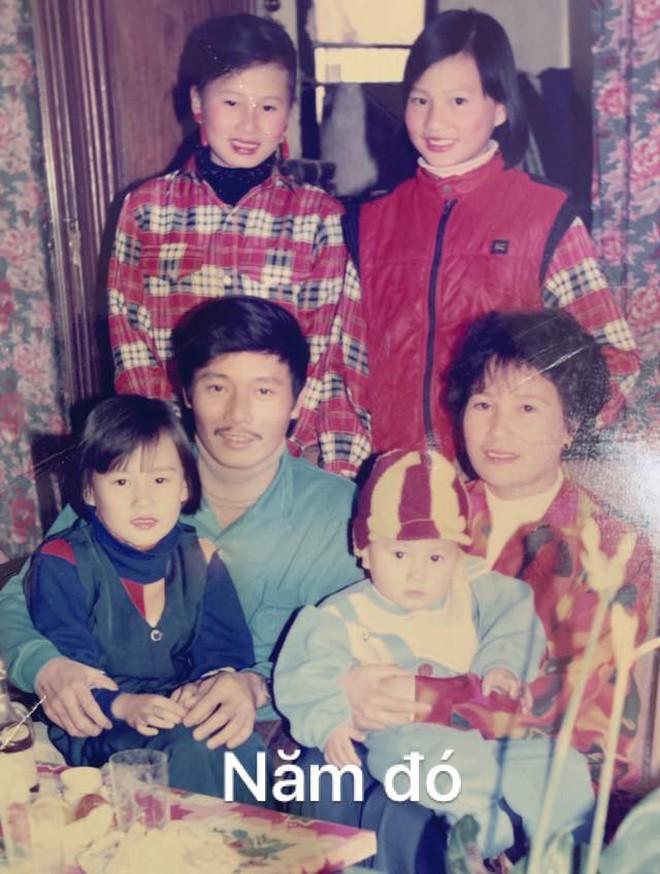 Đăng ảnh gia đình 20 năm trước và bây giờ, Phương Oanh ngầm chứng minh sở hữu nhiều nét xinh đẹp từ bé - ảnh 1