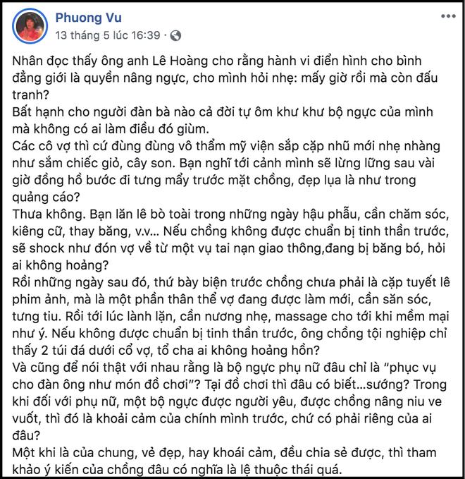 """Chỉ một câu chuyện """"nâng ngực"""", đạo diễn Lê Hoàng và Trác Thúy Miêu khẩu chiến gay gắt suốt 10 ngày chưa hết - ảnh 6"""