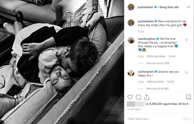 Sau hơn 1 tháng mới đăng ảnh cùng Hailey, Justin Bieber lập tức khiến fan thòng tim vì một hành động - Ảnh 2.