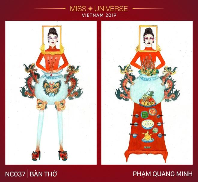 Thiết kế Bàn thờ thi phần trang phục để Hoàng Thuỳ dự Miss Universe 2019 đang khiến dân tình cạn hết lời! - ảnh 1