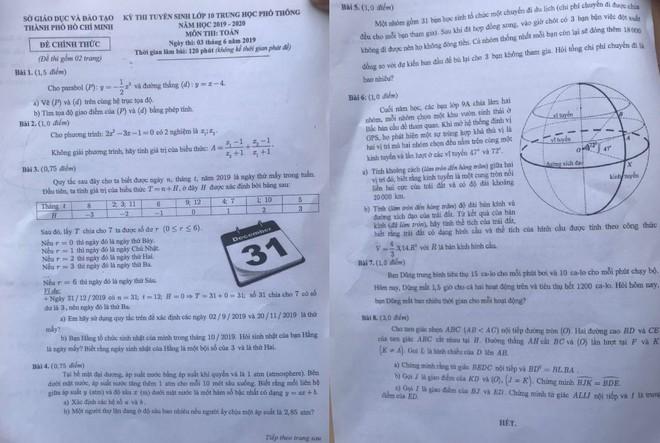 Phó giám đốc Sở GD&ĐT TP.HCM nói 'rất vô lý' khi 126 thí sinh bị điểm 0 môn Toán vào lớp 10 - ảnh 1