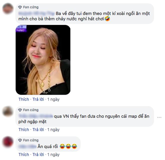 """Thấy Rosé mê đồ ăn đến bất chấp, fan Việt mới quyết tâm đem... hàng phở với cây xoài ra """"dụ"""" cô nếu BLACKPINK tổ chức concert ở Việt Nam - ảnh 8"""