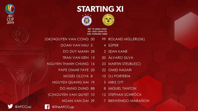 [Trực tiếp bán kết AFC Cup] Hà Nội FC 0-0 Ceres Negros: Quang Hải đá chính, Bùi Tiến Dũng dự bị - Ảnh 2.