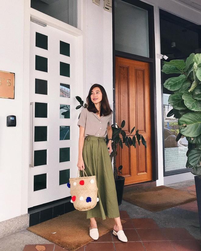 Hè dù nóng hay mát mẻ, áo sơ mi + quần ống rộng vẫn là combo tuyệt diệu nhất cho nàng công sở - ảnh 3