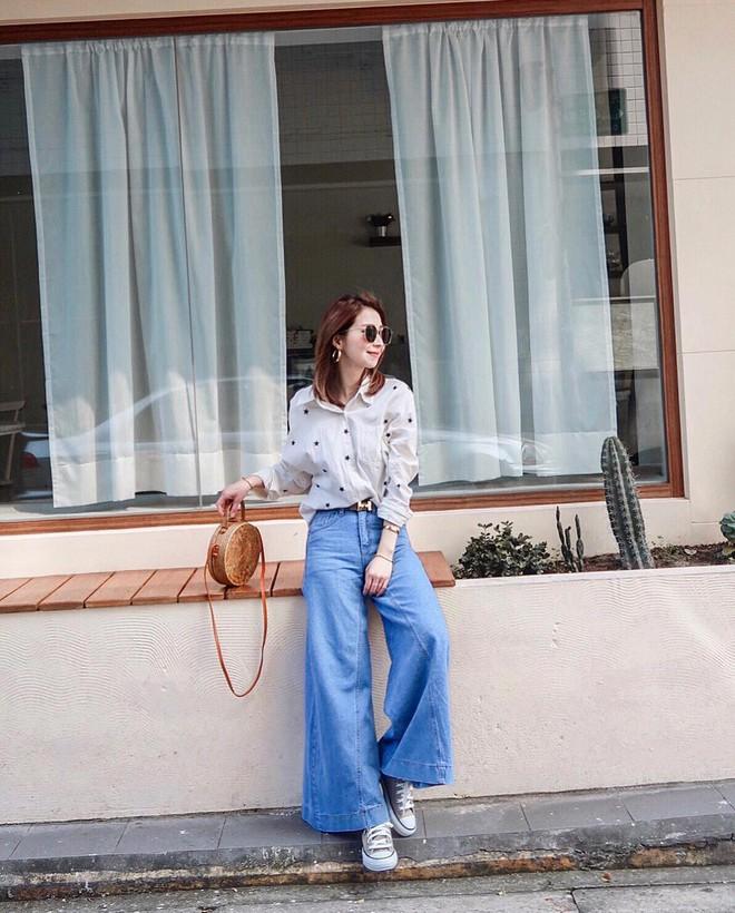 Hè dù nóng hay mát mẻ, áo sơ mi + quần ống rộng vẫn là combo tuyệt diệu nhất cho nàng công sở - ảnh 12