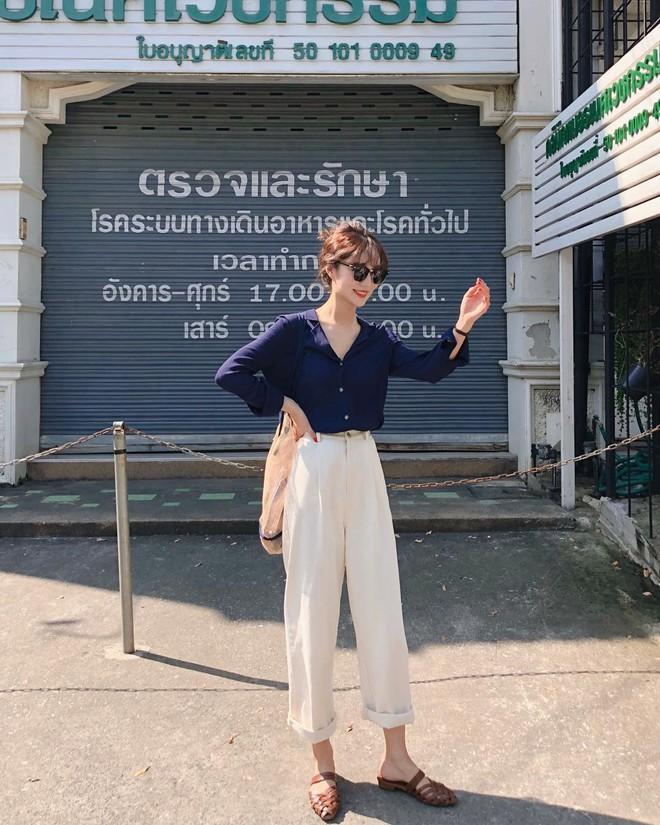 Hè dù nóng hay mát mẻ, áo sơ mi + quần ống rộng vẫn là combo tuyệt diệu nhất cho nàng công sở - ảnh 13