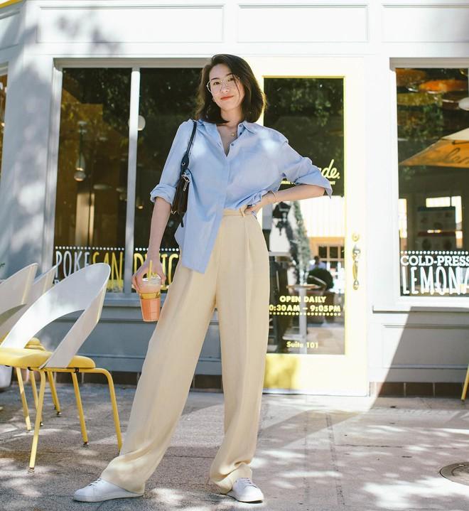 Hè dù nóng hay mát mẻ, áo sơ mi + quần ống rộng vẫn là combo tuyệt diệu nhất cho nàng công sở - ảnh 14