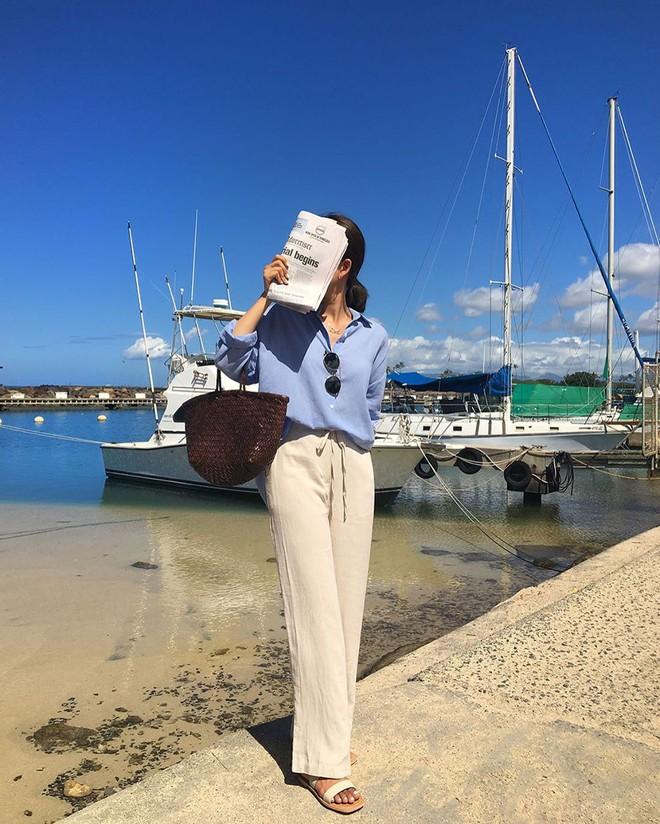 Hè dù nóng hay mát mẻ, áo sơ mi + quần ống rộng vẫn là combo tuyệt diệu nhất cho nàng công sở - ảnh 6
