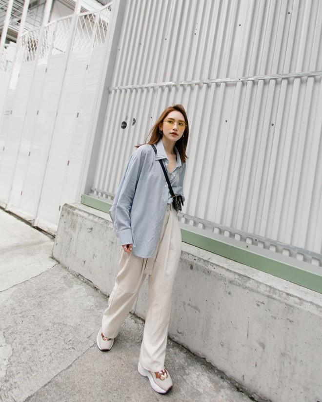 Hè dù nóng hay mát mẻ, áo sơ mi + quần ống rộng vẫn là combo tuyệt diệu nhất cho nàng công sở - ảnh 10
