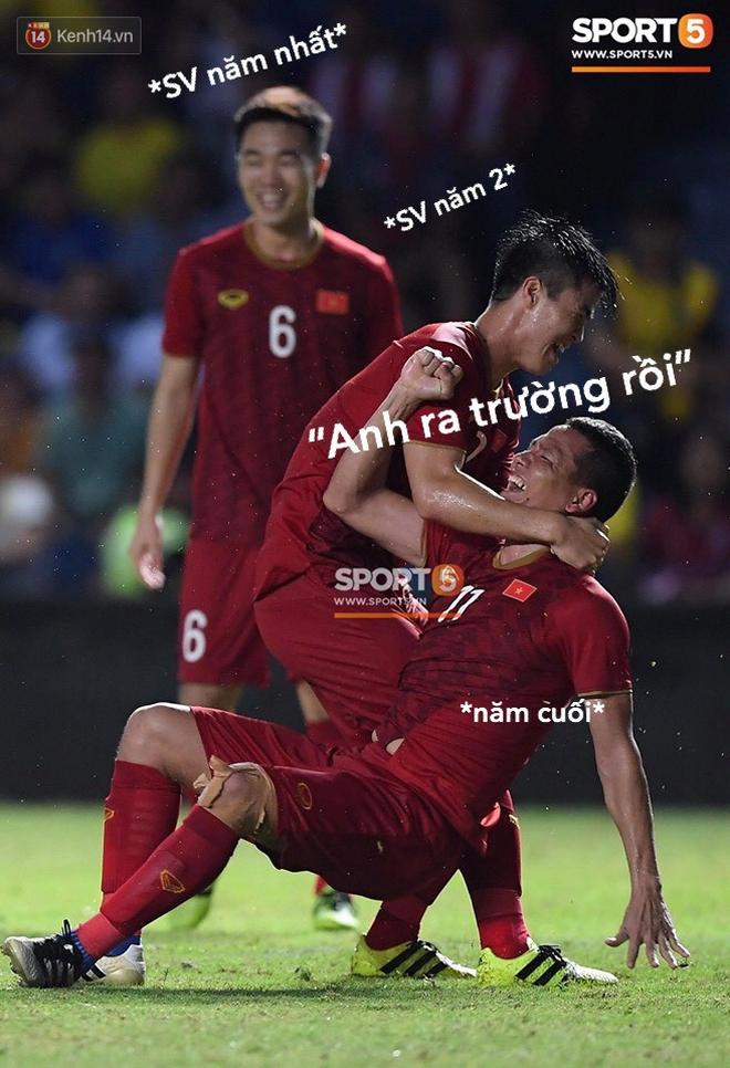 Hình ảnh cầu thủ 2 đội Việt Nam và Thái Lan tranh chấp căng thẳng trở thành cảm hứng chế bất tận của dân mạng - Ảnh 17.