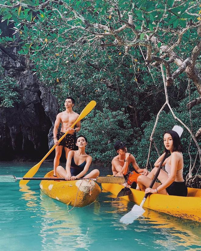 """Đã đến hòn đảo đẹp nhất Philippines là phải chơi """"tới bến"""" trò này như hội bạn thân vợ chồng Giang Ơi, Dino Vũ, Khánh Linh The Face - Ảnh 12."""