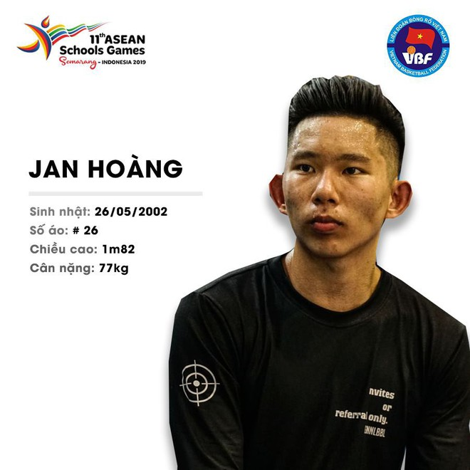 Điểm danh 12 gương mặt xuất sắc nhất của tuyển bóng rổ nam U18 Việt Nam tại ASEAN Schools Games 2019 - ảnh 14