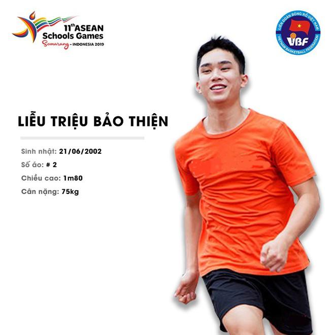 Điểm danh 12 gương mặt xuất sắc nhất của tuyển bóng rổ nam U18 Việt Nam tại ASEAN Schools Games 2019 - ảnh 13